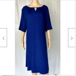 Chico's blue dress knee length a-line size 16 XL